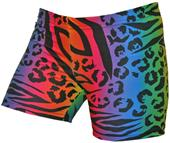 Gem Gear Compression Tie Dye Liger Print Shorts