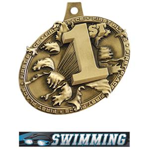 GOLD MEDAL/ULTIMATE SWIMMING NECK RIBBON