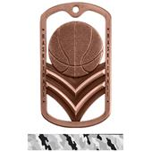 Hasty Awards Dogtag Basketball Medal M-785B