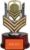 "Hasty Awards 6"" Basketball Dog Tag Trophy"