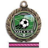 """Hasty Awards 2 3/4"""" Soccer Shield Insert Medals"""
