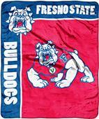 NCAA Fresno St School Spirit Raschel Throw
