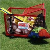 Soccer Wall Big Red Manchester Soccer Ball Cart