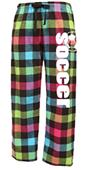 Image Sport Soccer Plaid Flannel Pants