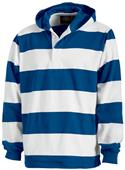 Charles River Hooded Rugby Pullover